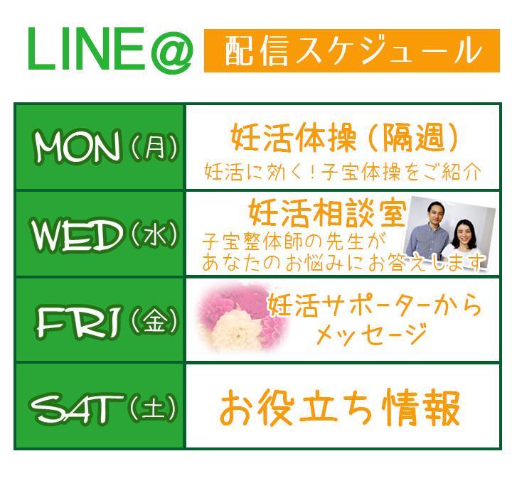 LINE@配信表